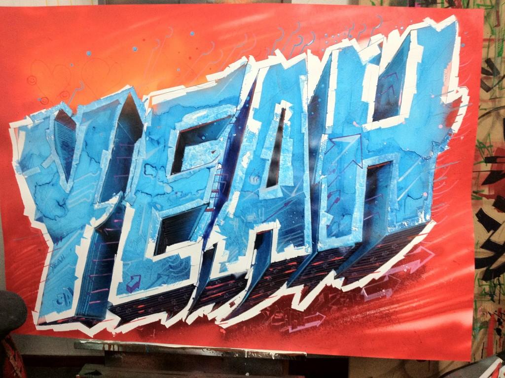 """""""YEAH"""" Work in Progress ( Papier Arbeit von SEAK)"""