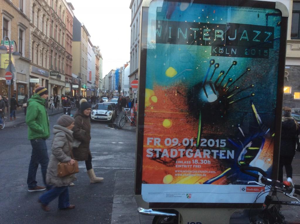 Kultursponsering. SEAK unterstützt wie jedes Jahr, das Kölner Winterjazz Musik Festival. HEY & YAY & JAZZ WELL IT TEA ;-) Wäre lieb falls jemand uns ein Plakat für SEAK's Archiv hinterlegen könnte.